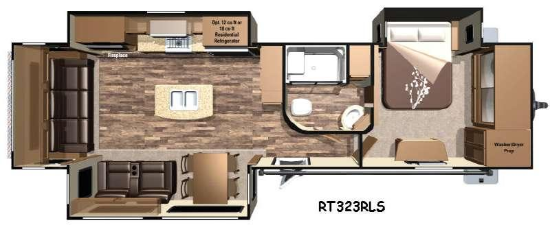 Floorplan - 2017 Highland Ridge RV Open Range Roamer RT323RLS