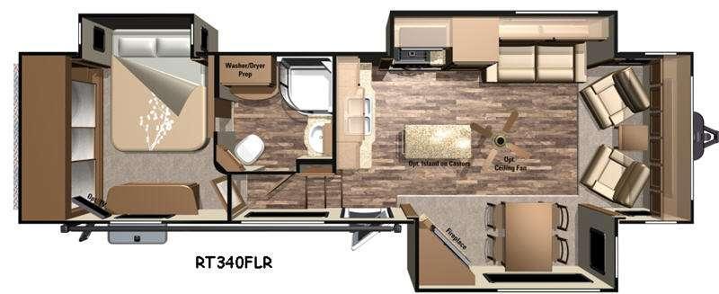 Open Range Roamer RT340FLR Floorplan Image