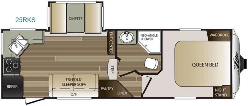 Cougar X-Lite 25RKS Floorplan Image
