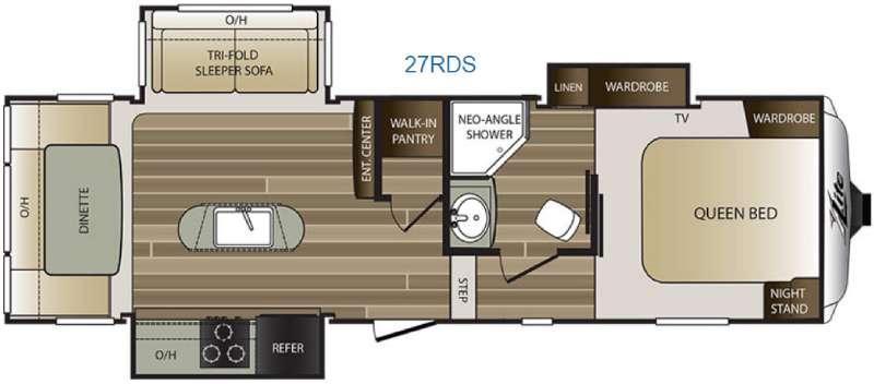 Cougar X-Lite 27RDS Floorplan Image