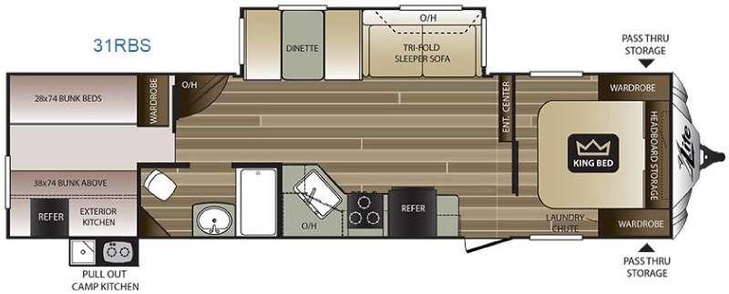 Cougar X-Lite 31RBS Floorplan Image