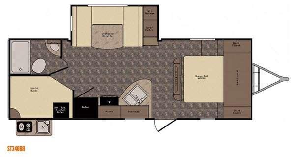 Sunset Trail Super Lite ST240BH Floorplan Image