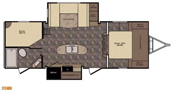 Sunset Trail Super Lite ST240BI Floorplan Image