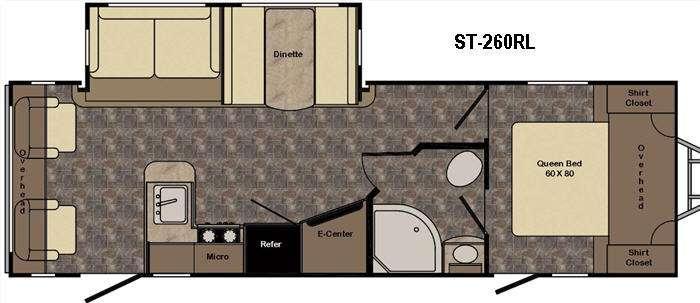 Sunset Trail Super Lite ST260RL Floorplan Image
