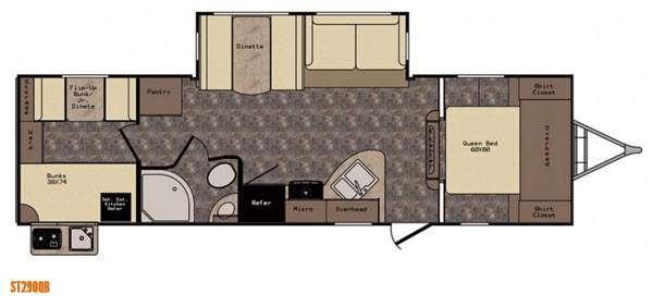 Sunset Trail Super Lite ST290QB Floorplan Image