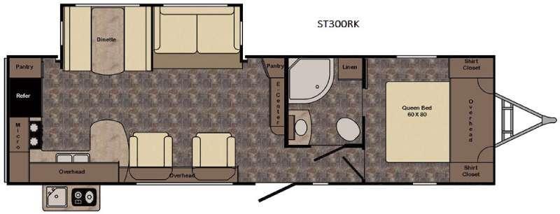 Sunset Trail Super Lite ST300RK Floorplan Image