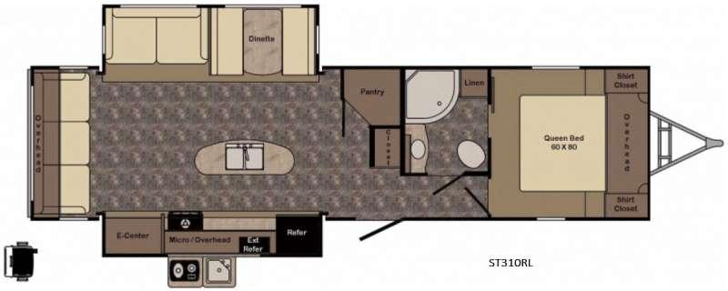 Sunset Trail Super Lite ST310RL Floorplan Image