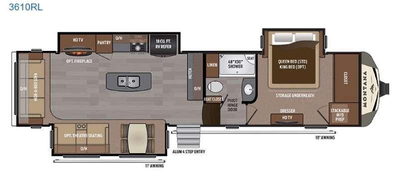 Montana 3610 RL Floorplan Image