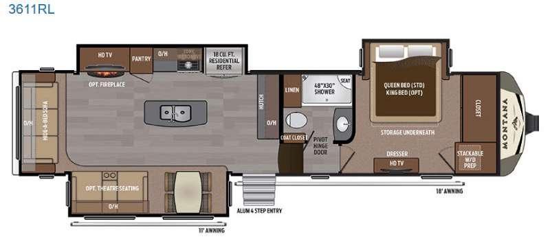 Montana 3611 RL Floorplan Image