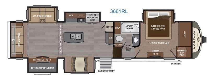 Floorplan - 2017 Keystone RV Montana 3661 RL