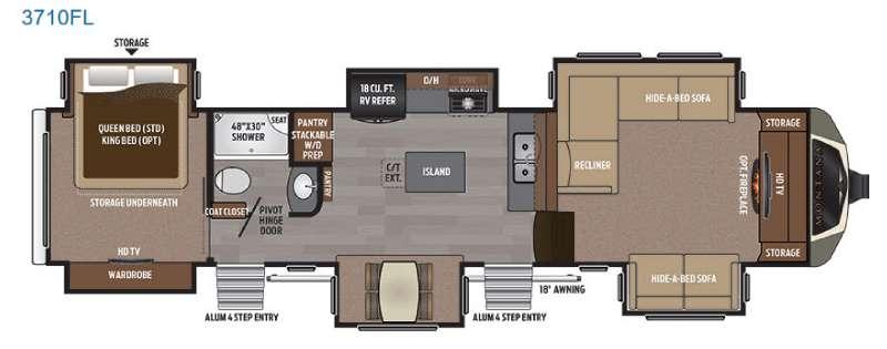 Floorplan - 2017 Keystone RV Montana 3710 FL
