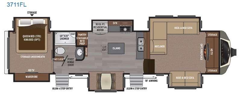 Montana 3711 FL Floorplan Image