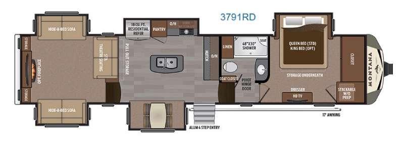 Montana 3791 RD Floorplan Image