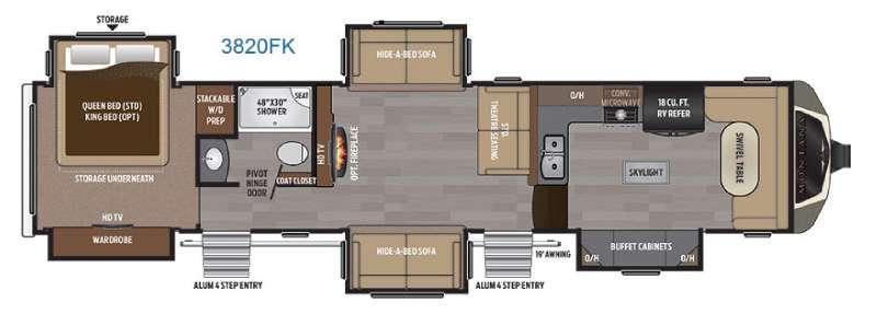 Floorplan - 2017 Keystone RV Montana 3820 FK