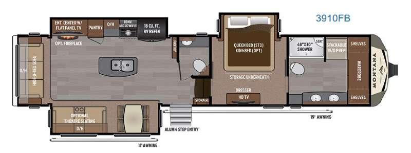 Montana 3910 FB Floorplan Image