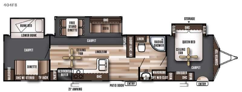 Wildwood Lodge 404FB Floorplan Image