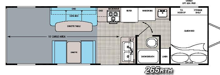 Floorplan - 2006 Gulf Stream RV Track & Trail 265RTH