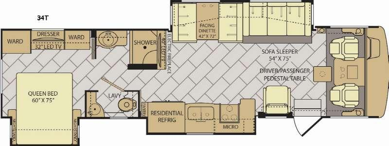 Bounder 34T Floorplan Image
