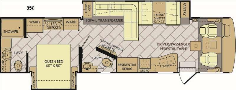 Floorplan - 2017 Fleetwood RV Bounder 35K
