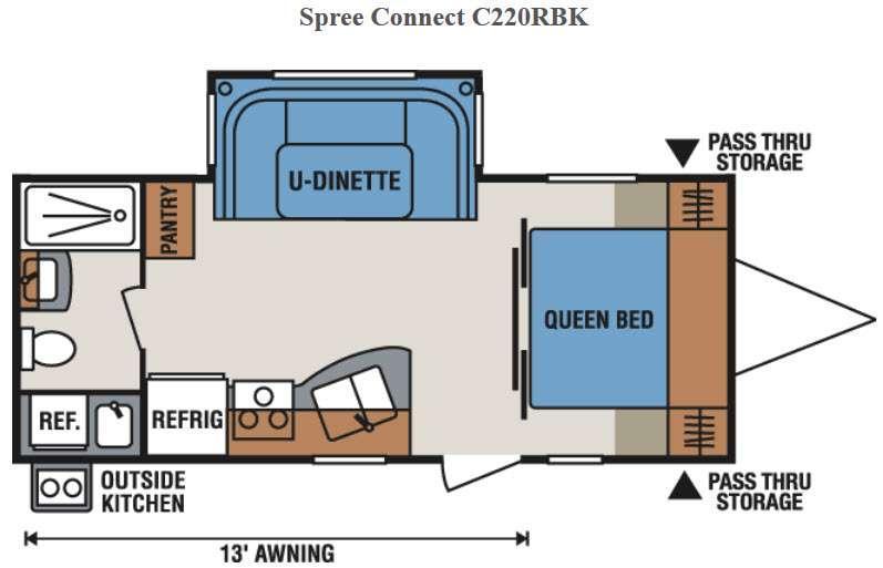 Spree Connect C220RBK Floorplan Image