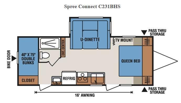 Spree Connect C231BHS Floorplan Image