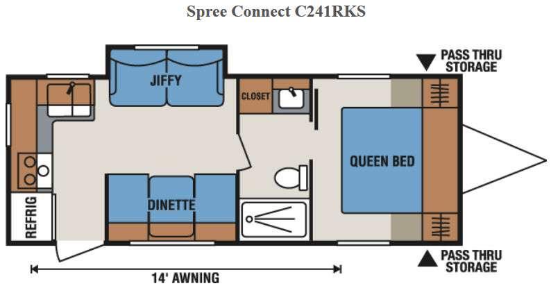 Spree Connect C241RKS Floorplan Image