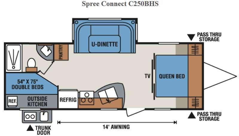 Spree Connect C250BHS Floorplan Image