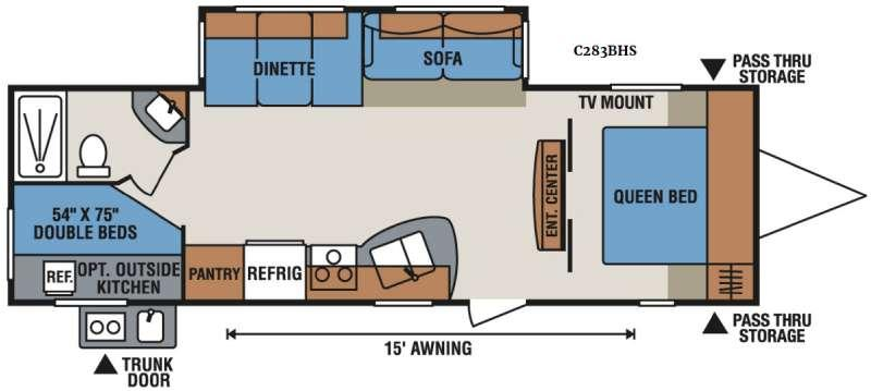 Spree Connect C283BHS Floorplan Image