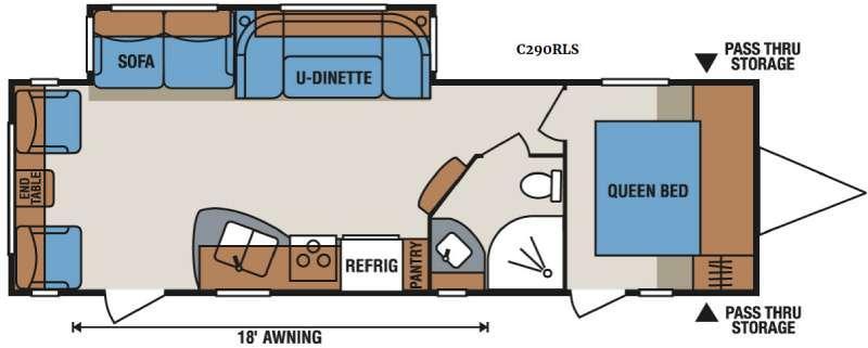 Spree Connect C290RLS Floorplan Image
