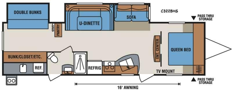 Spree Connect C322BHS Floorplan Image