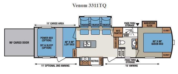 Venom 3311TQ Floorplan Image