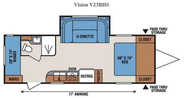 Vision V23BHS Floorplan Image