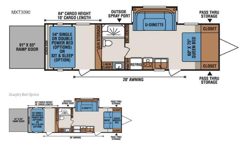 Floorplan - 2017 KZ MXT MXT3090