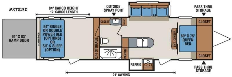 Floorplan - 2017 KZ MXT MXT3192