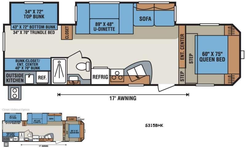Sportsmen S315BHK Floorplan Image