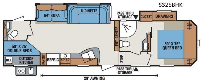 Sportsmen S325BHK Floorplan Image