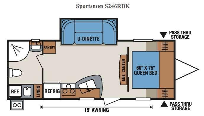 Floorplan - 2017 KZ Sportsmen S246RBK