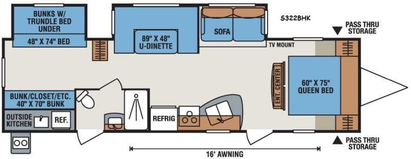 Sportsmen S322BHK Floorplan Image