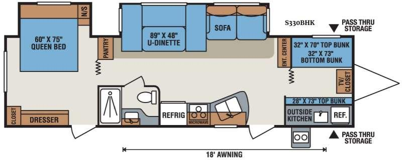 Sportsmen S330BHK Floorplan Image