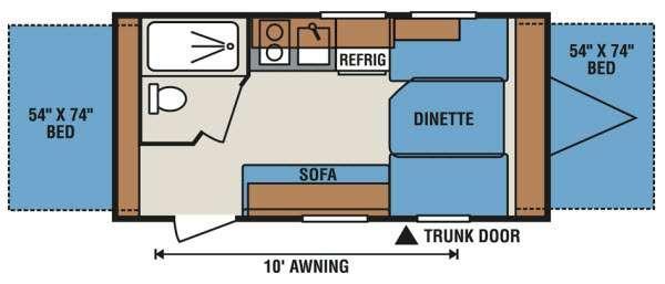 Sportsmen Classic 16RBT Floorplan Image