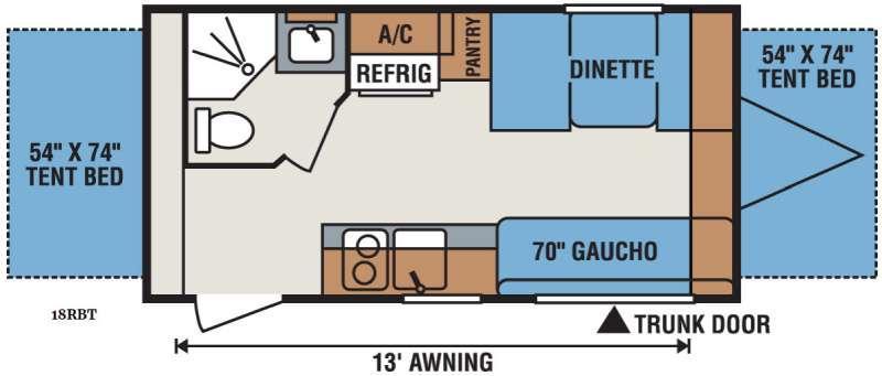 Sportsmen Classic 18RBT Floorplan Image