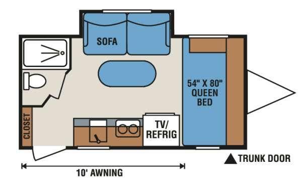 Sportsmen Classic 17RBS Floorplan Image