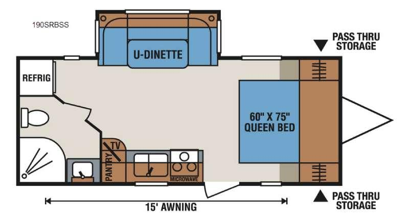 Sportsmen Show Stopper S190SRBSS Floorplan Image