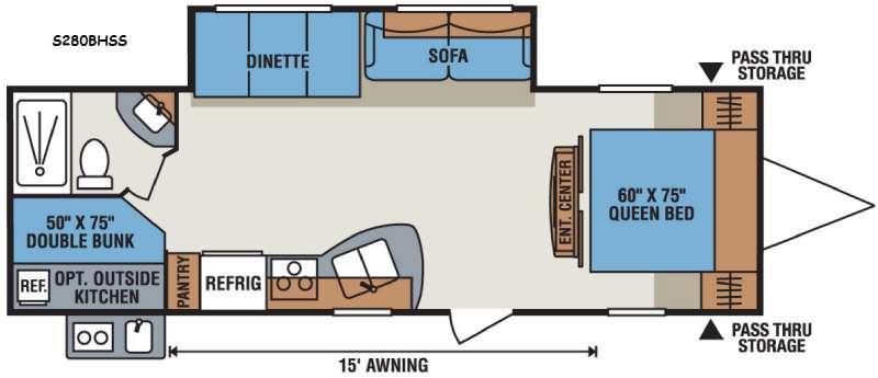 Sportsmen Show Stopper S280BHSS Floorplan Image