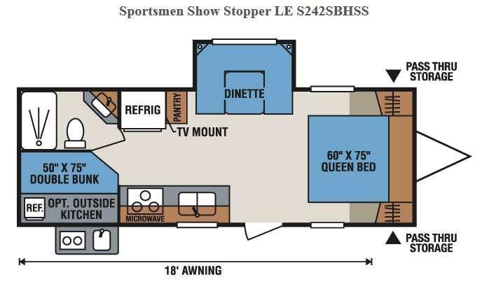 Sportsmen Show Stopper LE S242SBHSS Floorplan Image