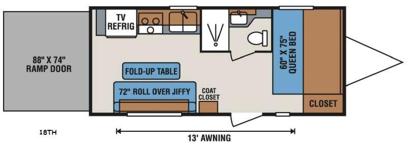 Sportsmen Sportster 18TH Floorplan Image