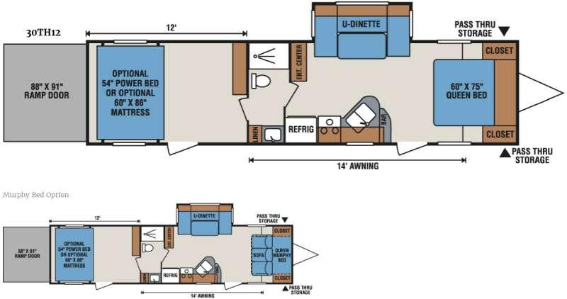 Sportsmen Sportster 30TH12 Floorplan Image