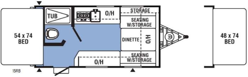 Floorplan - 2017 Coachmen RV Clipper Ultra-Lite 15RB
