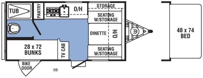 Clipper Ultra-Lite 16B Floorplan Image