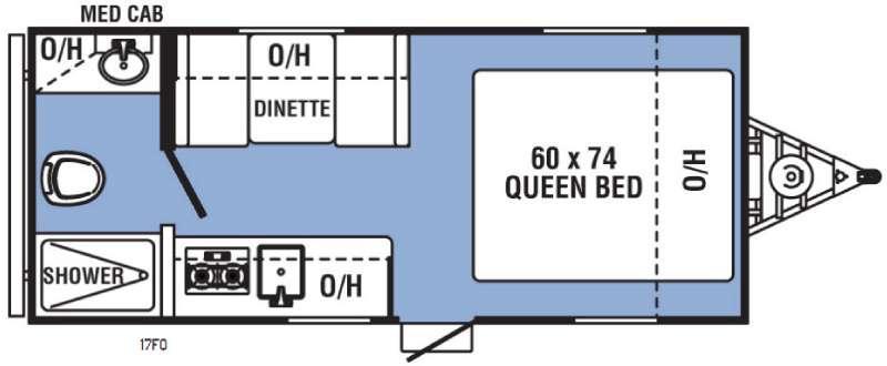 Clipper Ultra-Lite 17FQ Floorplan Image